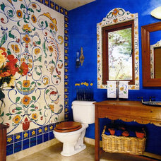 Eclectic Bathroom by magpie painting