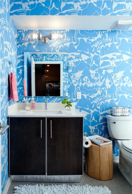 Eclectic Bathroom by Daleet Spector Design