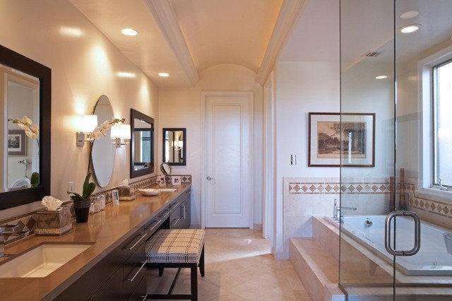 Contemporary Bathroom by Joani Stewart-Georgi - Montana Ave. Interiors