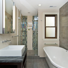 Transitional Bathroom by Studio S Squared Architecture, Inc.