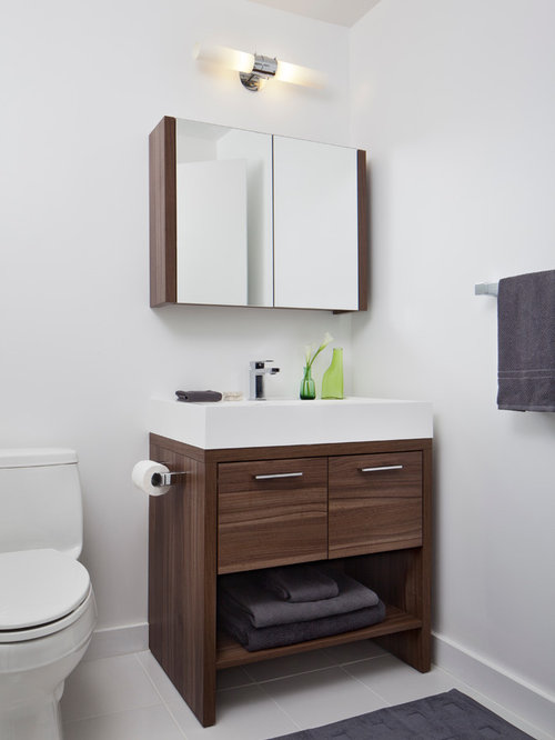 Dark wood bathroom vanity houzz for Dark wood bathroom designs