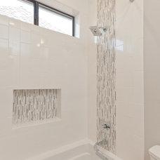 Transitional Bathroom by Mirador Builders