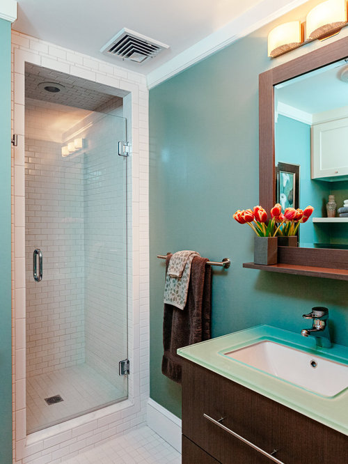small shower stall houzz. Black Bedroom Furniture Sets. Home Design Ideas