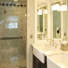 Traditional Bathroom by Jean Flesher Construction