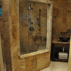 Eclectic Bathroom by Supreme Surface, Inc.