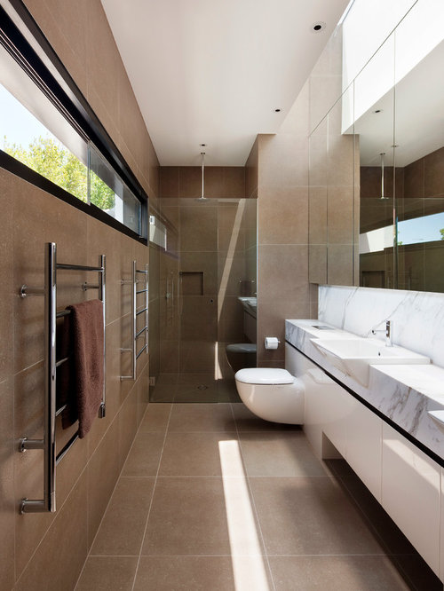Narrow Ensuite Home Design Ideas, Pictures, Remodel and Decor