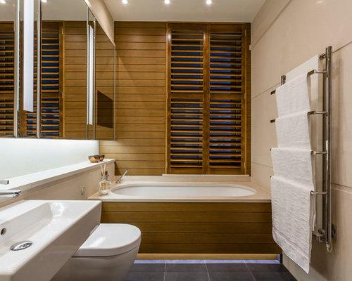 Handfat Funkis : Foton och badrumsinspiration för badrum med ett väggmonterat