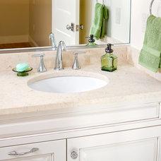 Modern Bathroom Masada Gold Limestone Vanity