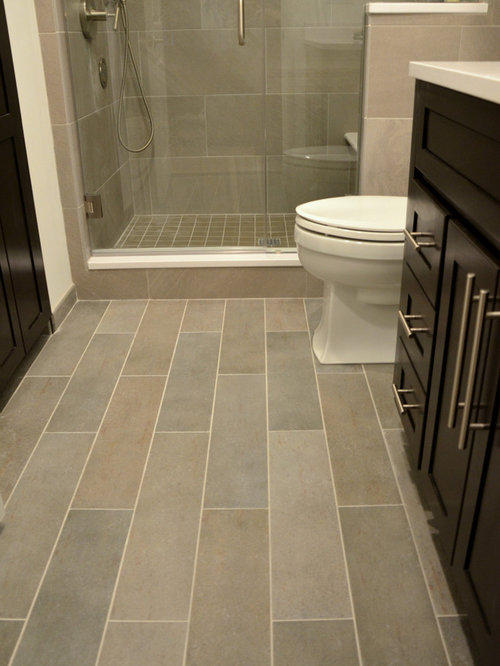Plank tile flooring home design ideas pictures remodel and decor Bathroom ideas wooden floor