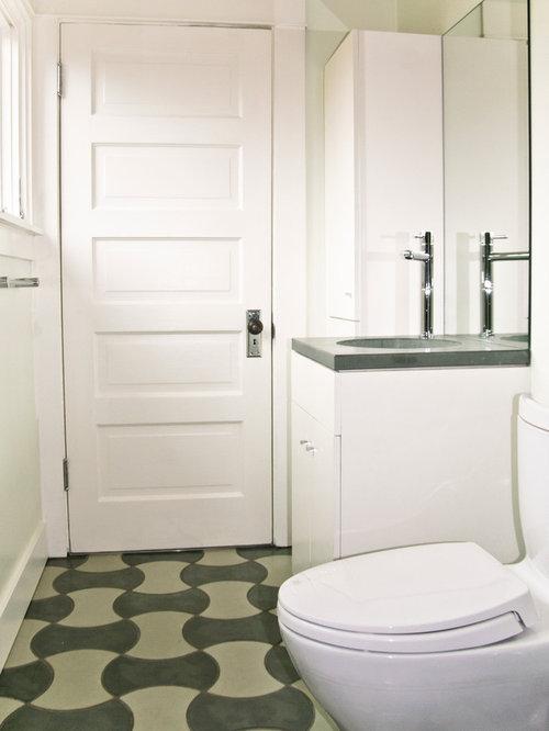 Portland Bathroom Design Ideas Renovations Photos With Cement Tiles