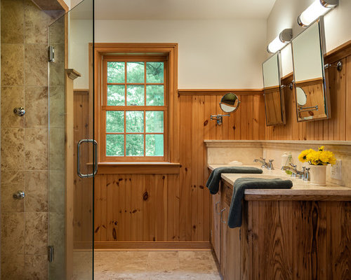 Houzz Pine Wainscoting Design Ideas Amp Remodel Pictures