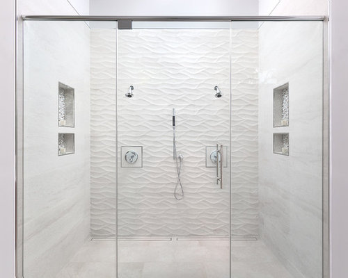 Bathroom   Large Modern Master Beige Tile And Porcelain Tile Porcelain  Floor And Beige Floor Bathroom