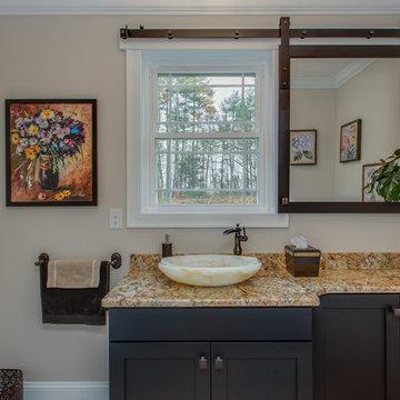 Master & Half Bathroom With Sliding Mirror