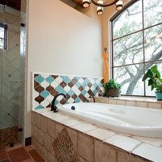 Mediterranean Bathroom by Rick O'Donnell Architect