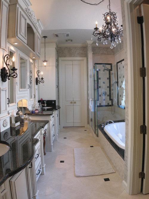 Oklahoma City Bathroom Design Ideas Renovations Photos With Black Tile