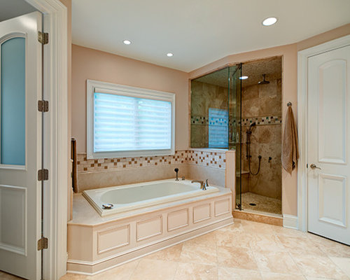Victorian Bath Design Ideas, Pictures, Remodel & Decor with Beige Cabinets