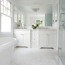 Transitional Bathroom by MSM Property Development, LLC