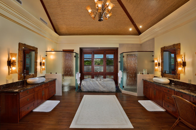 Asian Bathroom by Architectural Design & Construction