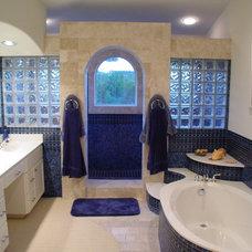 Mediterranean Bathroom by Asomoza Homes - Design Build