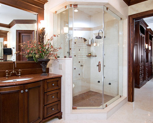 traditional bathroom idea in miami with an undermount sink