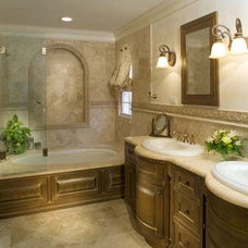 Mediterranean Bathroom by By Design ltd.