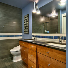 Contemporary Bathroom by Vertical Construction Group LLC