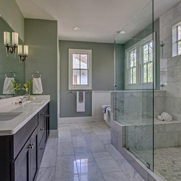 Master Bath - Classic White Marble