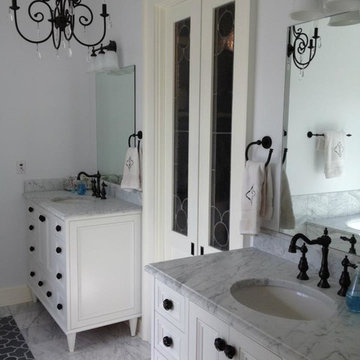 Master Bath Countertops - 3cm White Carrera