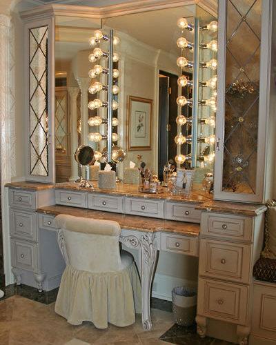 Custom makeup vanity