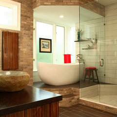 modern bathroom by Design Theory Interiors