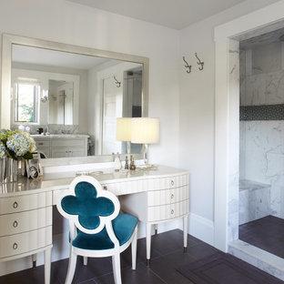 Modelo de cuarto de baño contemporáneo con ducha empotrada