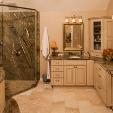Transitional Bathroom by Steven Paul Whitsitt Photography