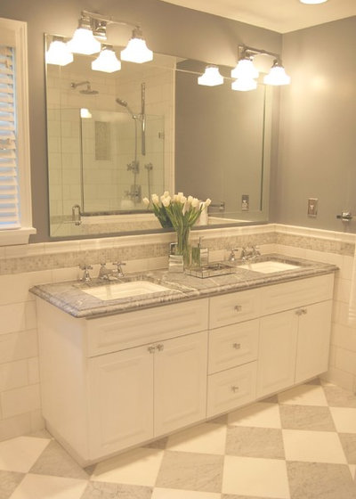 Elegant Traditional Bathroom by Elizabeth P Lord Residential Design LLC