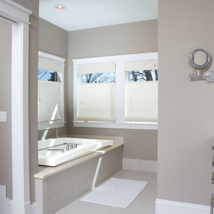 Example Of A Mid Sized Clic Master Beige Tile And Porcelain Floor Bathroom