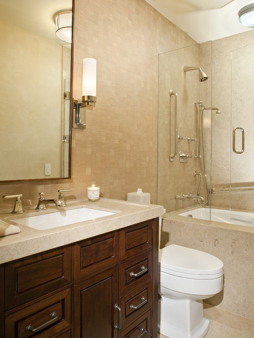 enclosed tub and shower combo. Trendy Tub Shower Combo Photo In Denver With An Undermount Sink Enclosed Tub  Houzz