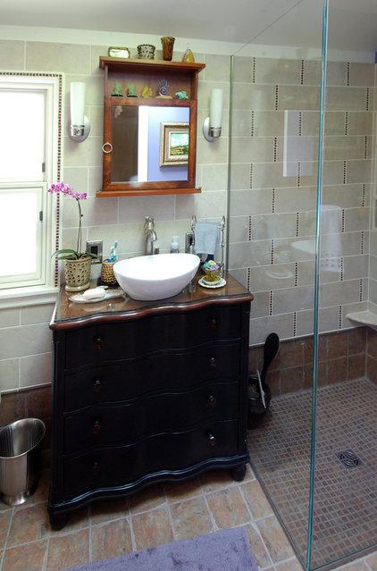 Eclectic Bathroom by Forward Design Build