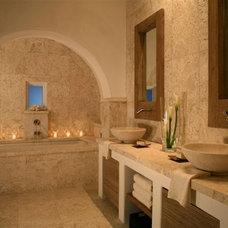 Mediterranean Bathroom by Gary Justiss Architect