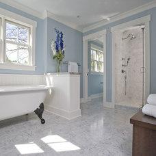 Craftsman Bathroom by Great Rooms Designers & Builders