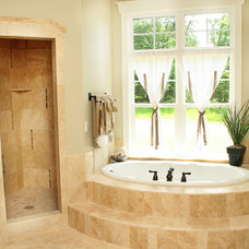 Mediterranean Bathroom by Green Apple Design