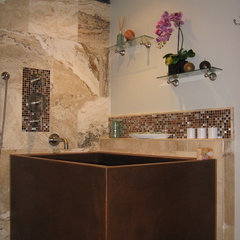 asian bathroom by Grif Wood Designs