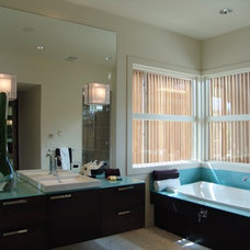 Modern Bathroom by Heather Pascua Interiors