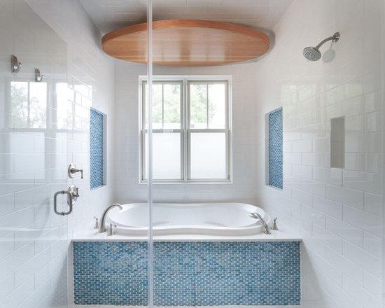 Bathroom Tiles Around Tub accent tile around tub | houzz