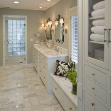 Transitional Bathroom by Hoskins Interior Design