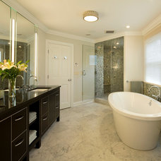 Traditional Bathroom by Jennifer Watty Interior Design