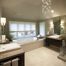 Contemporary Bathroom by Emily Winters, Peabody's Interiors