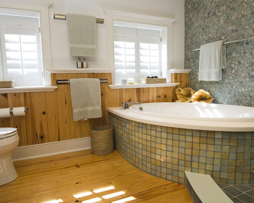 Knotty pine paneling ideas houzz for Bathroom ideas using tongue and groove