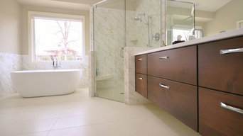 Master bath in Wood Duck