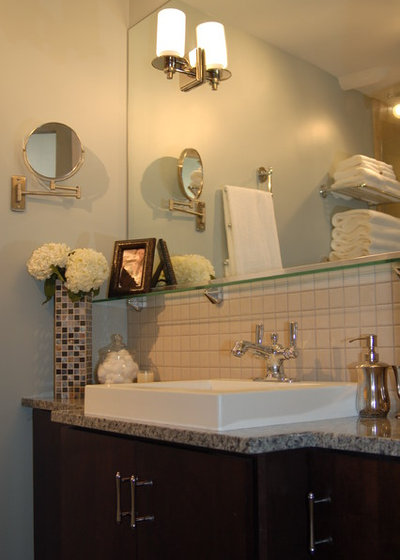 Bathroom Cabinets With Towel Rack your bath: hotel-style towel racks