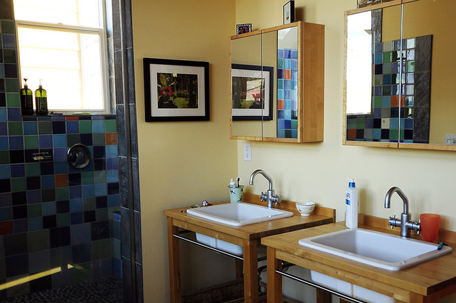 Eclectic Bathroom by Julie Smith
