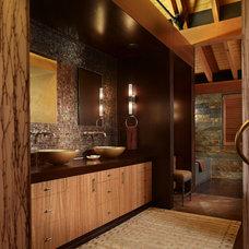 Rustic Bathroom by Krannitz Gehl Architects
